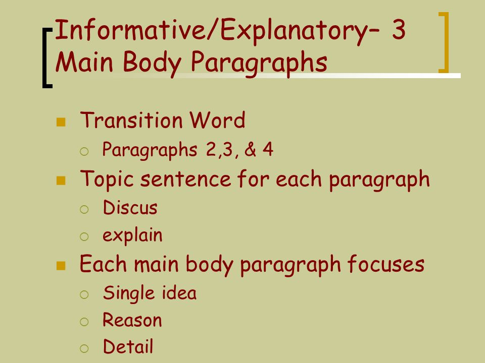 explanatory paragraph definition