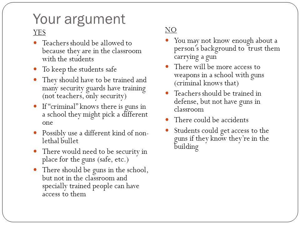 pros of teachers carrying guns