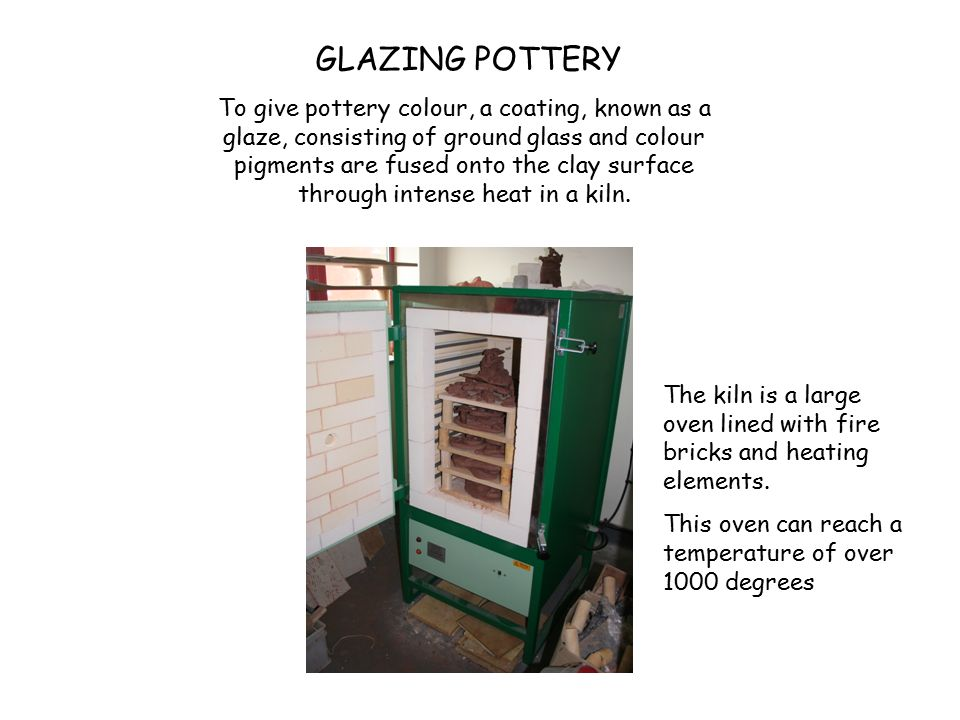 To give pottery colour, a coating, known as a glaze