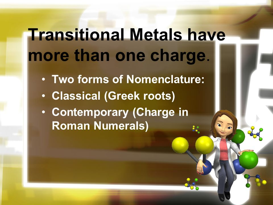 Naming Ionic Compounds Salts Chapter 7 Part 1 Metal Ions Are