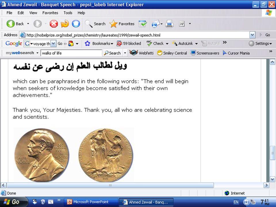 Nobel prize in chemistry.