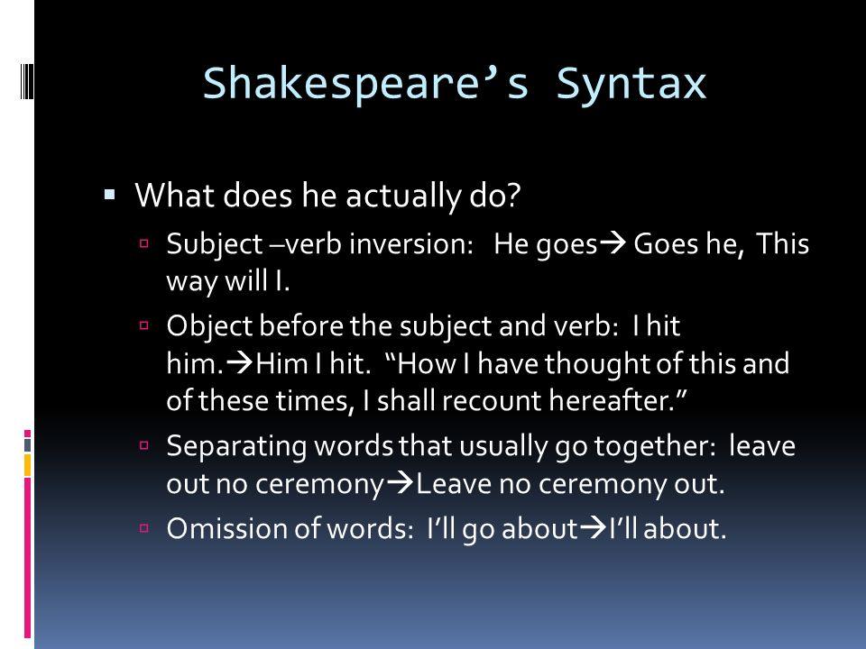 unusual syntax