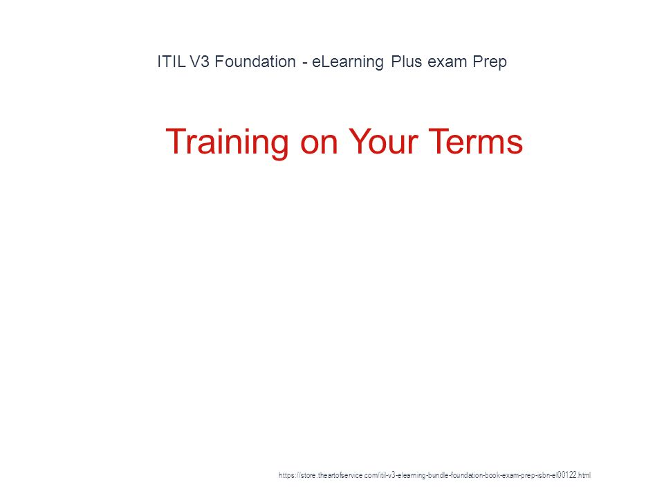 Itil V3 Foundation Elearning Plus Exam Prep 1 Get Everything You