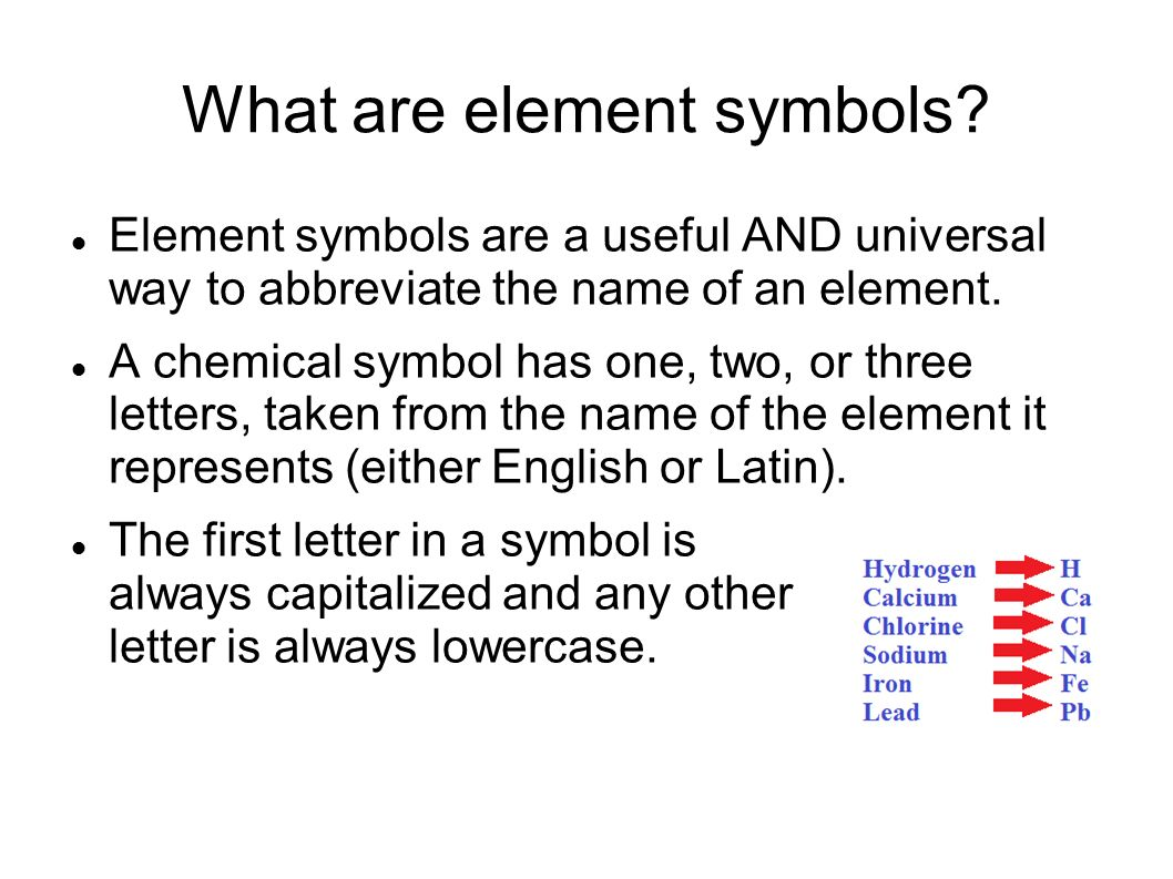 Elements Atoms What Is An Element An Element Is The Simplest