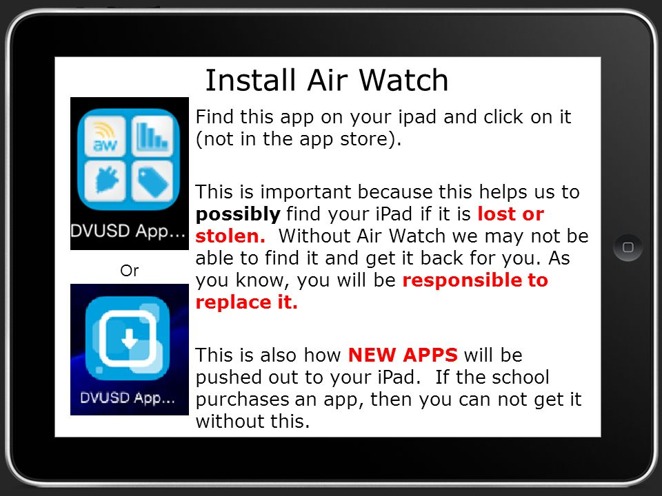 Installing Air Watch and updating the operating system  - ppt download