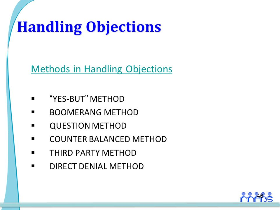 methods of handling objections