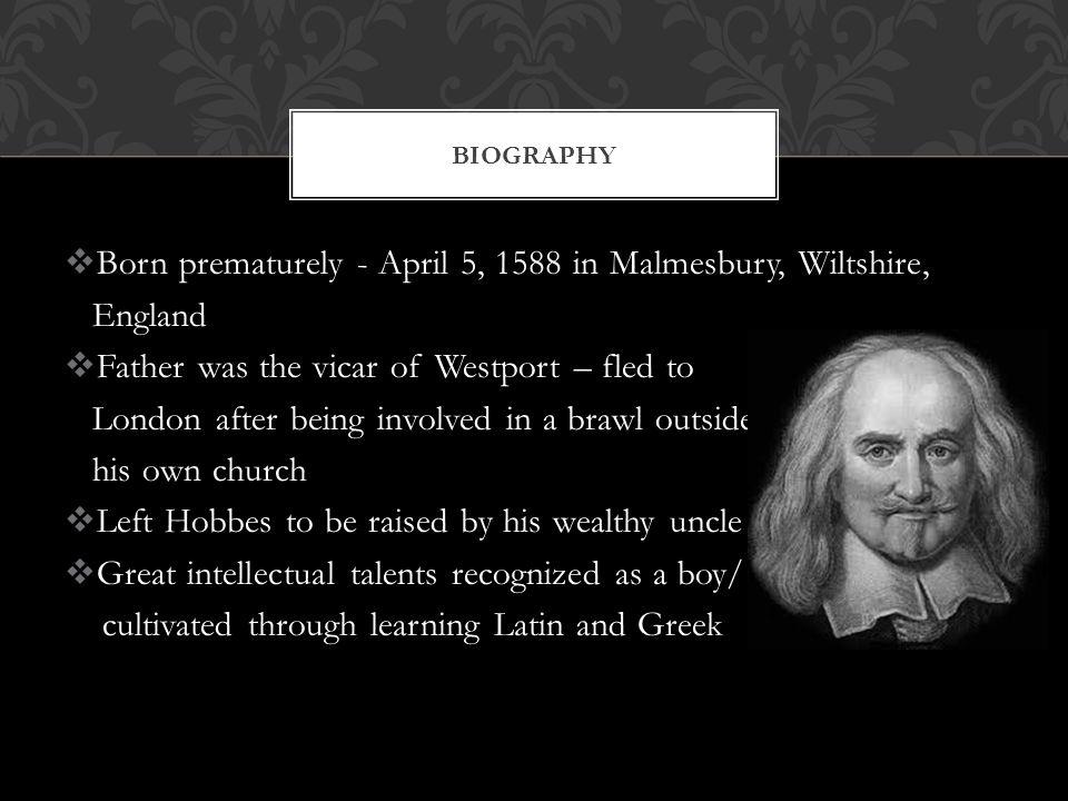 thomas hobbes biography