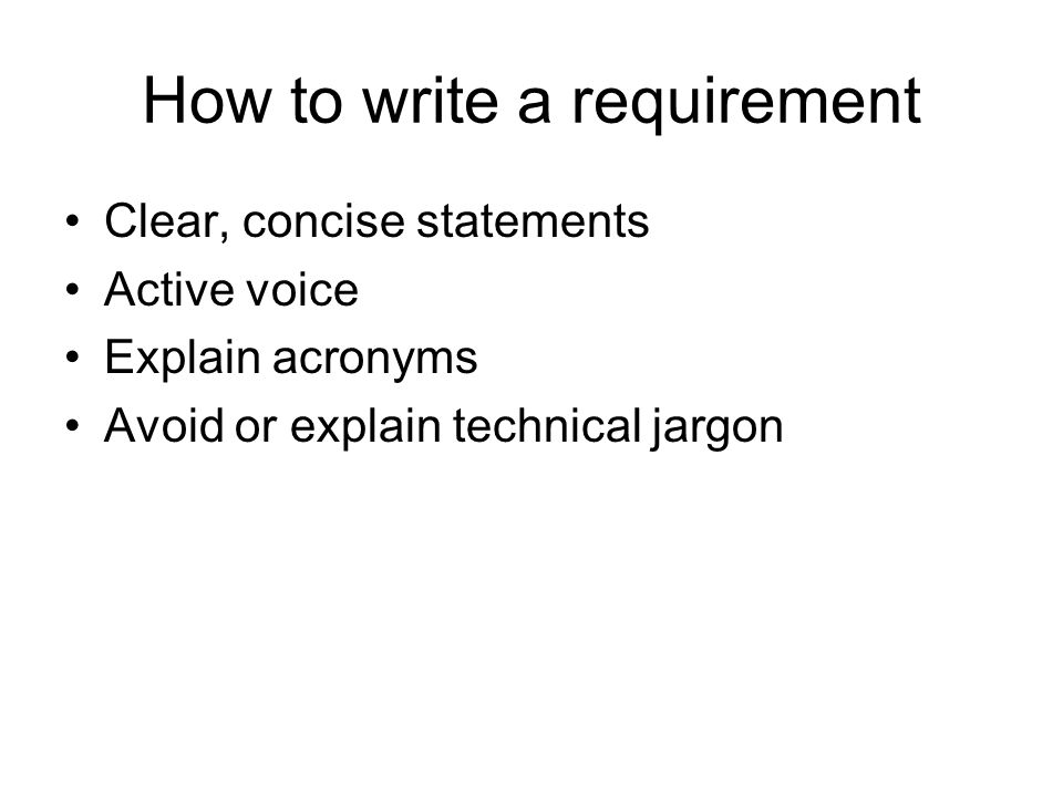 Writing System Requirements Parts Of A Requirements Spec - How to write technical requirements
