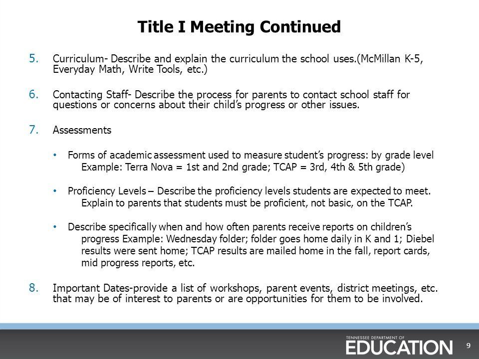 ESEA Directors Institute Title I Part ATitle I Part A