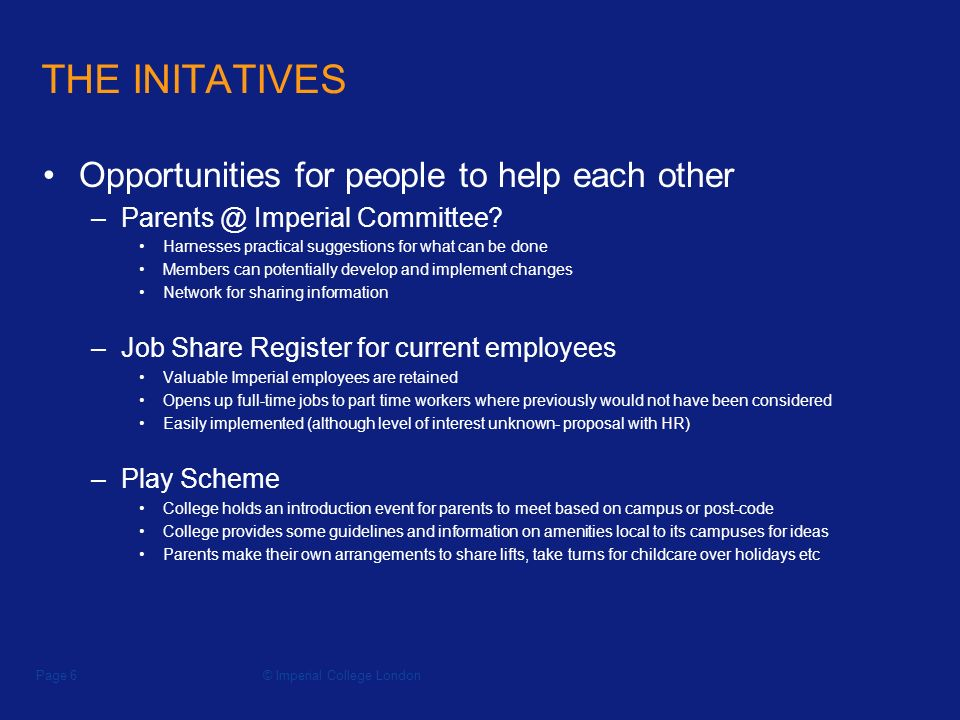 Imperial College LondonPage 1 Initiatives In The Division Of