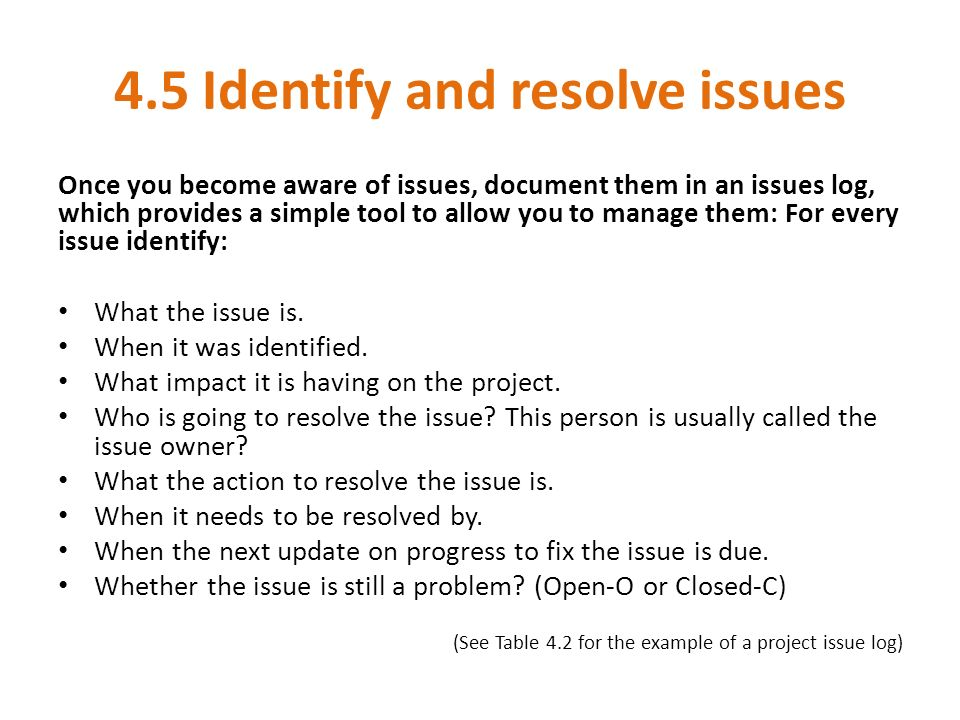 step 4 manage delivery role of project manager at this stage you