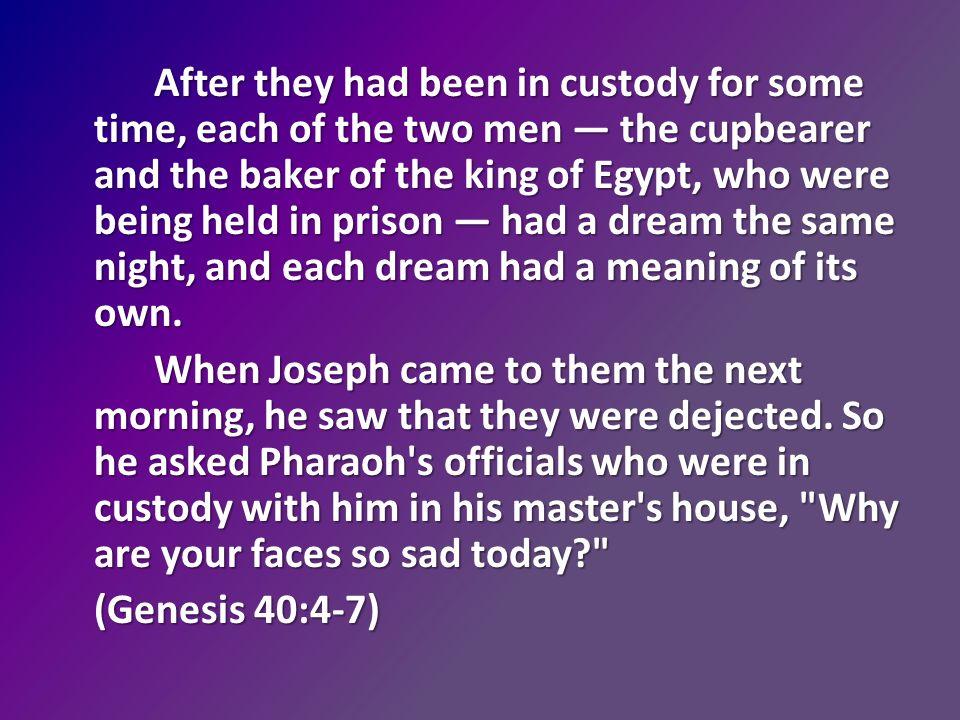 Living The Dream Story Of Joseph As You Listen Consider What