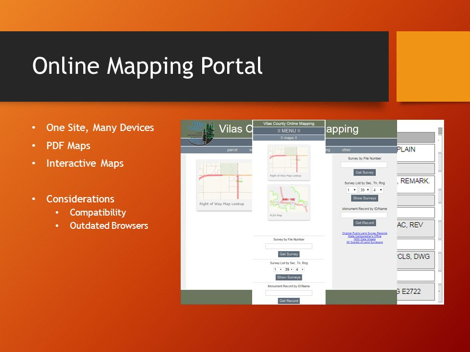 Mobile Mapping in the Northwoods Map Portal, Interactive