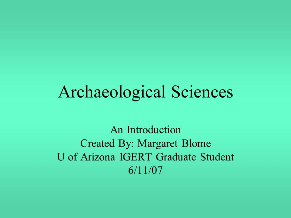 Uranium series dating archaeology degree