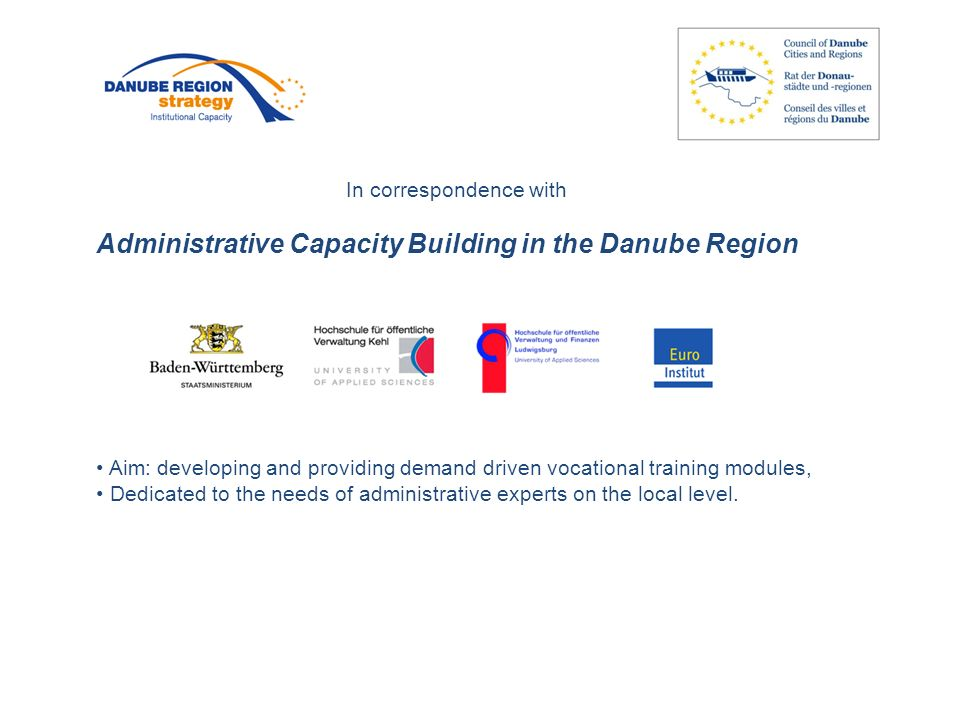 Peter Langer General Coordinator Council of Danube Cities and