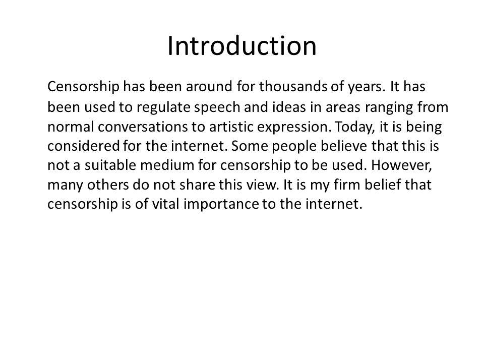censorship argumentative essay outline