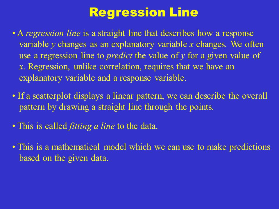 §2.3: Least-Squares Regression Correlation measures the direction and strength of a straight-line (linear) relationship between two quantitative variables.