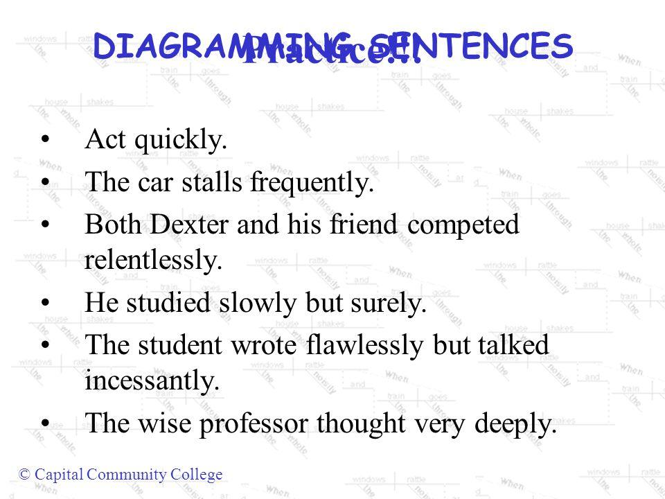 Diagramming sentences capital community college diagramming 13 diagramming sentences ccuart Images