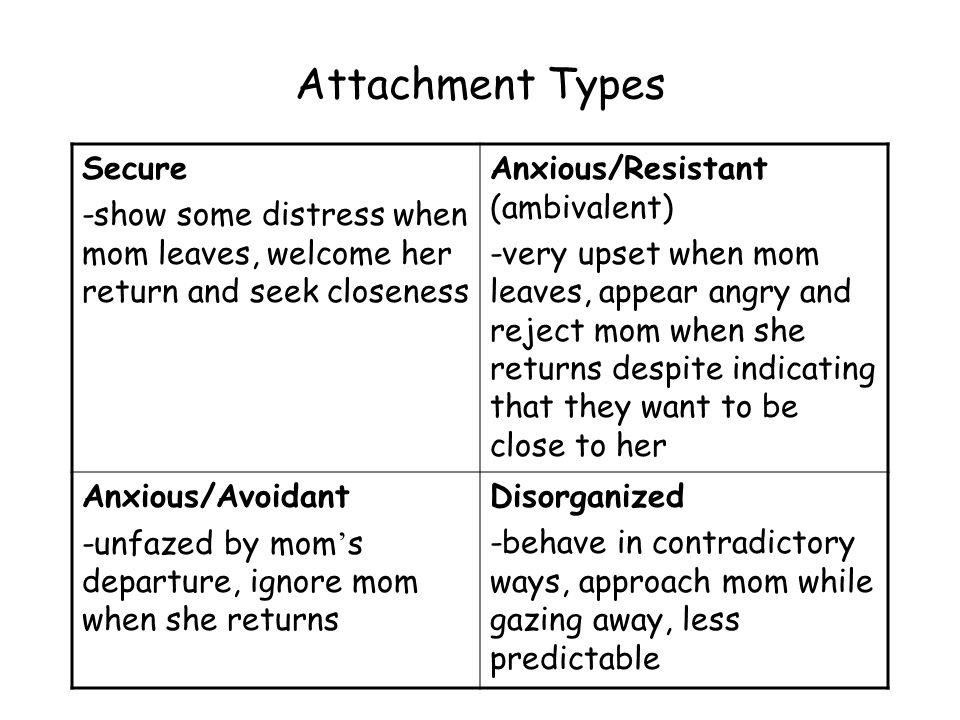 Attachment theory types