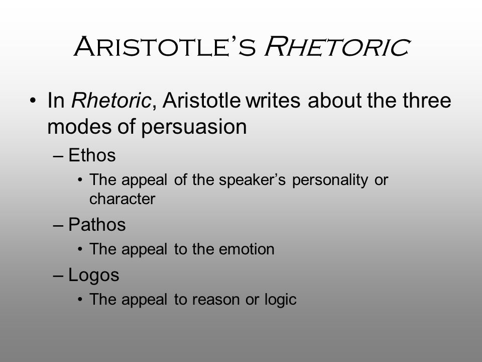 aristotle and the techne of rhetoric essay Aristotle's phantasia in the rhetoric: lexis, appearance, and the epideictic function of discourse ned o'gorman introduction the well-known opening line of aristotle.