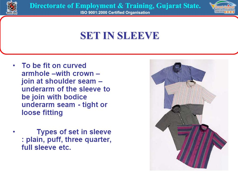 ab2b10841d57 LESSON – 7 TYPES OF SLEEVE   CUFF USED IN SHIRT USED IN SHIRT. - ppt ...