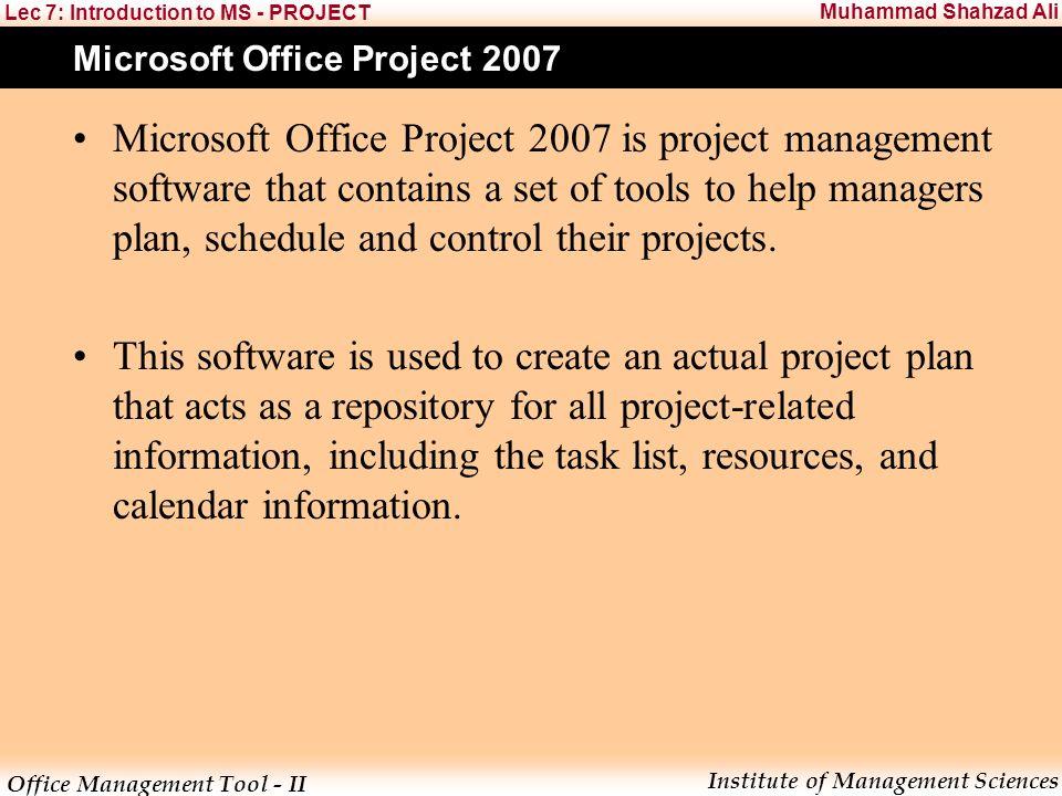Office Management Tool - II Institute of Management Sciences