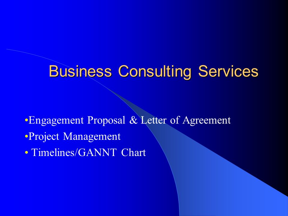 Business Consulting Services Engagement Proposal Letter Of