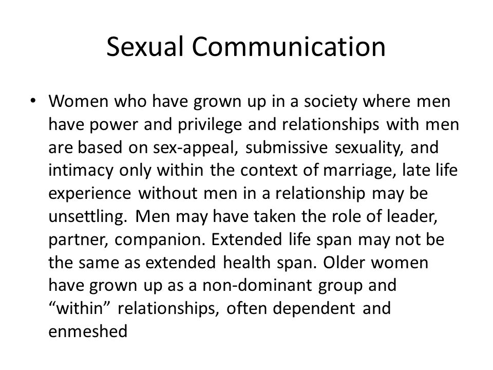 Companionship without sex