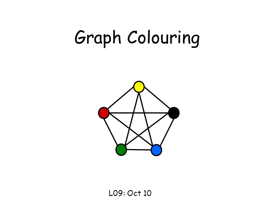 Graph Colouring L09 Oct 10 This Lecture Graph Coloring Is