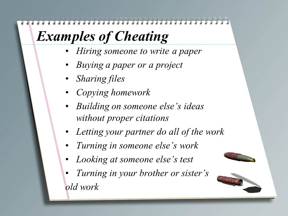 "CHEATING ""failure to appreciate the value of education"