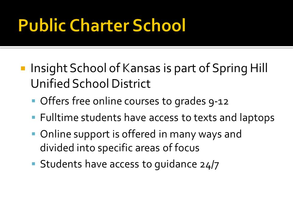 A Virtual Public Charter School A Chance To Focus On A Quality