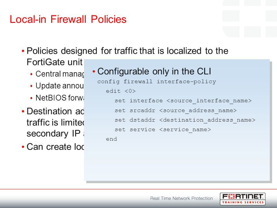 Firewall Policies  Module Objectives By the end of this