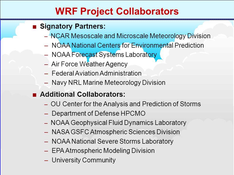 3 rd Annual WRF Users Workshop Promote closer ties between