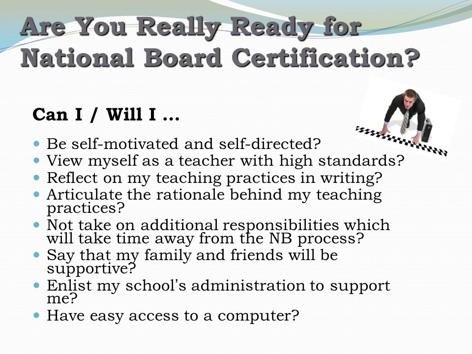 Applying For National Board Certification Applying For National