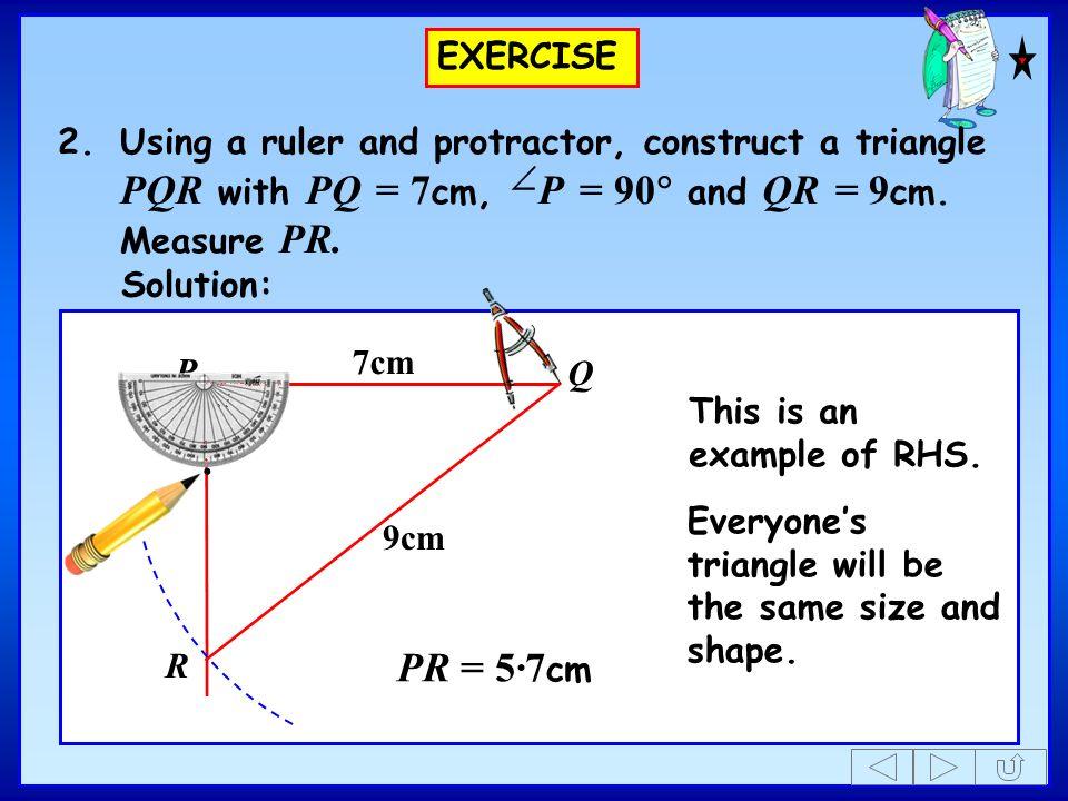 Teach GCSE Maths Constructing Triangles SAS, RHS. - ppt download