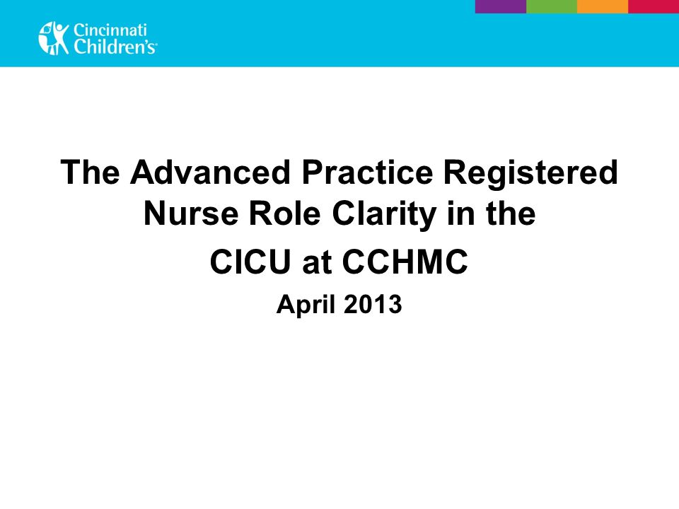The Advanced Practice Registered Nurse Role Clarity in the