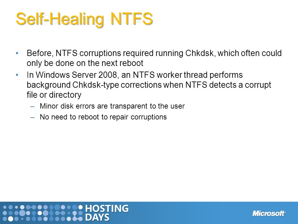 Management Reliability Solid Foundation Windows Server