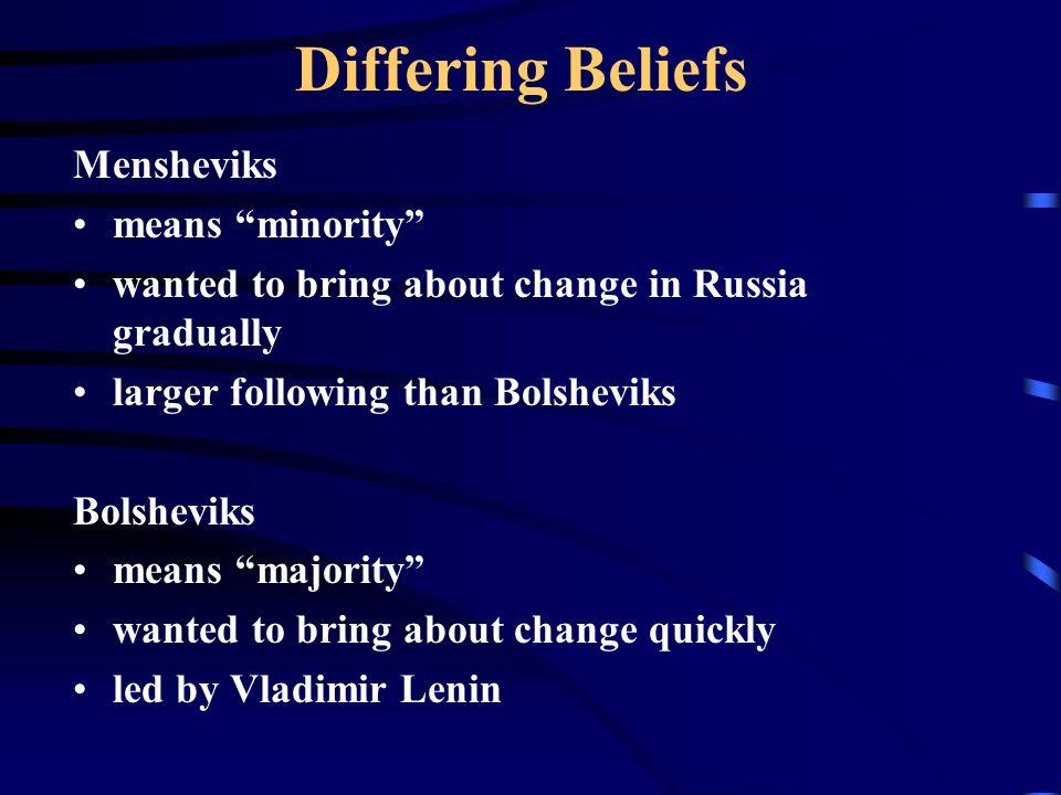mensheviks beliefs
