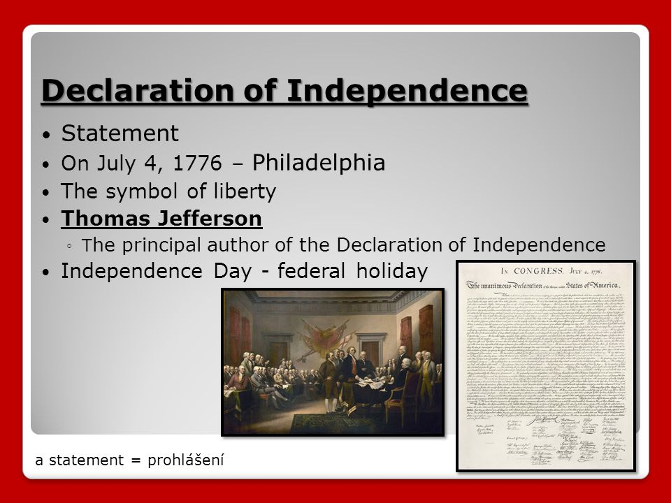 the declaration of independence why it is The declaration of independence is a very important legal document, one of the most important ones in the history of the united states of america the declaration of independence represents the first step made officially to stop great britain from controlling the 13 colonies the declaration of independence was written by thomas jefferson.