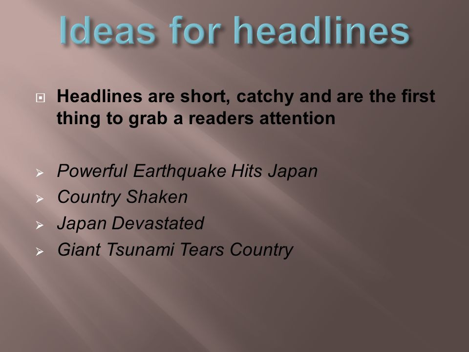 catchy earthquake titles