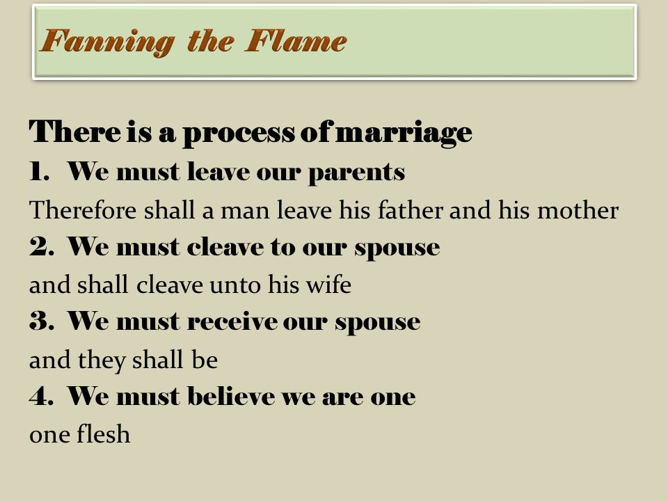 leaving and cleaving in marriage