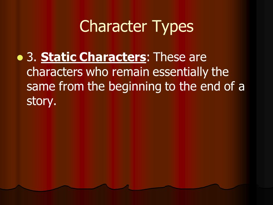 Character Types 3.