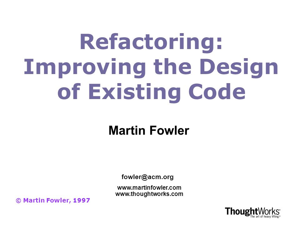 homework 1 refactoring and legacy code