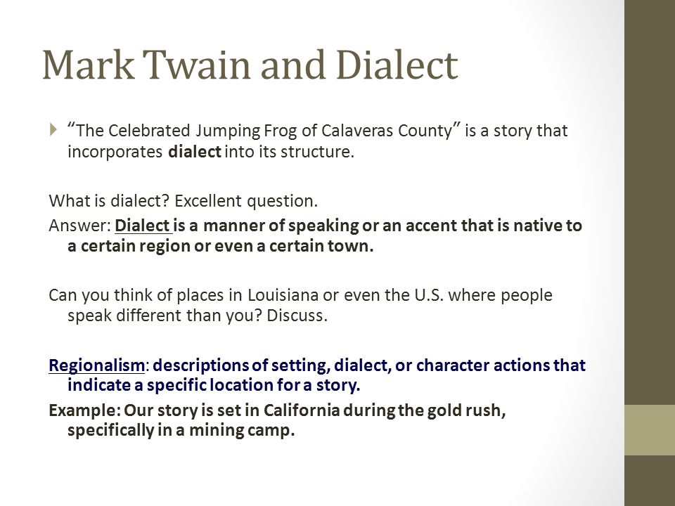 essay questions for the notorious jumping frog of calaveras county