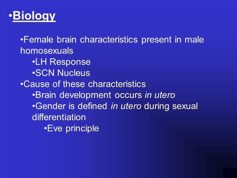Causes of homosexuality in utero