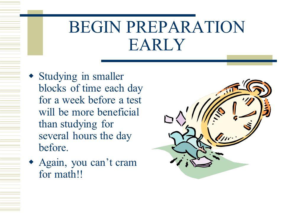 MATH TEST PREPARATION TIPS MATH SKILLS STUDY TIPS For ...