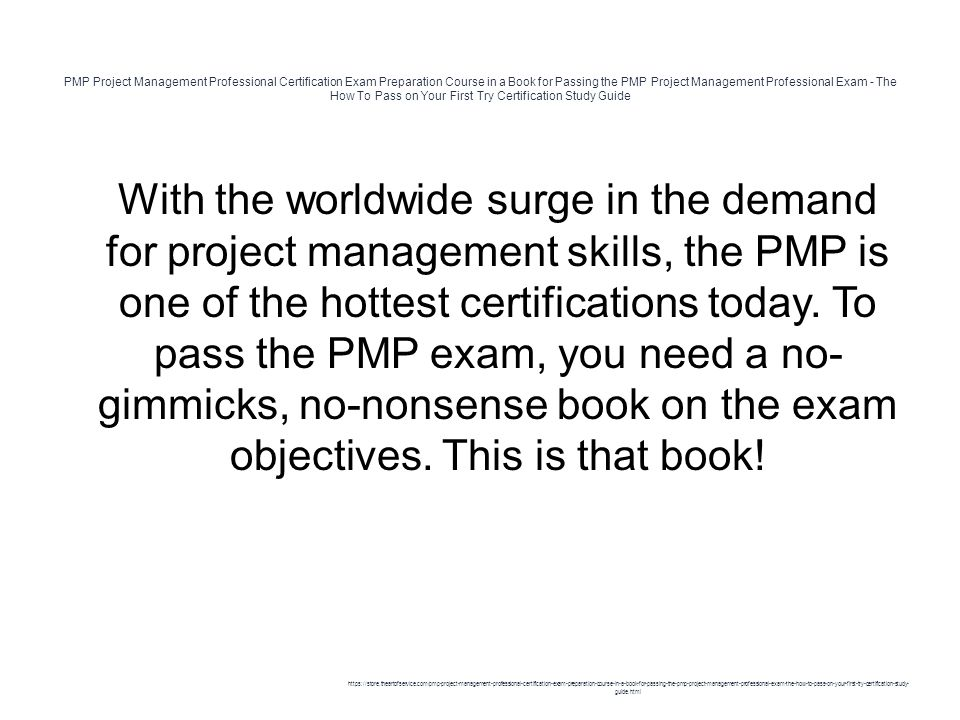 Pmp Project Management Professional Certification Exam Preparation
