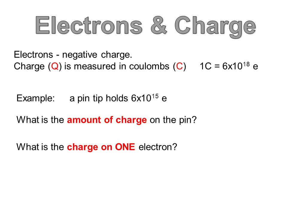 Electrons - negative charge.