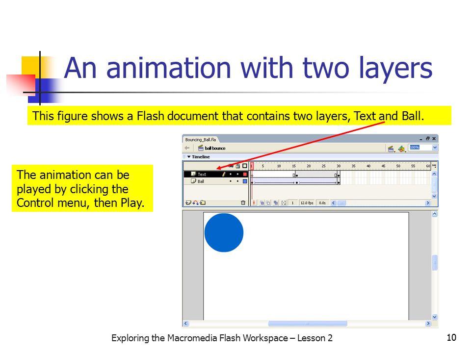 Exploring the Macromedia Flash Workspace – Lesson 2 1