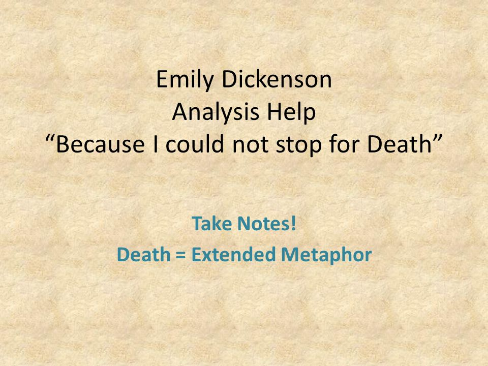 because i could not stop for death emily dickinson meaning